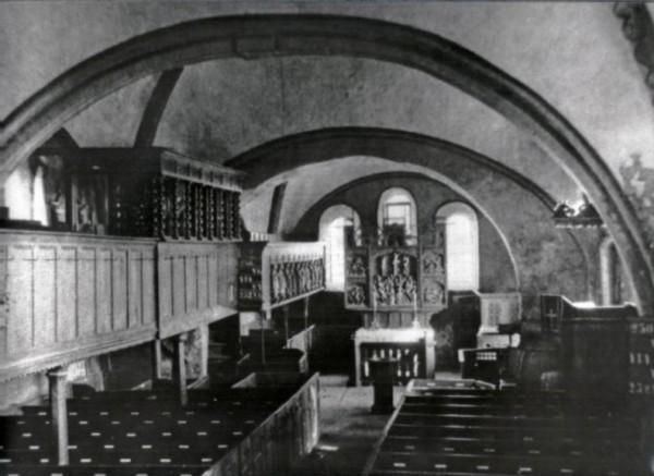 Innenraum Stuhrer Kirche 1910 oder später