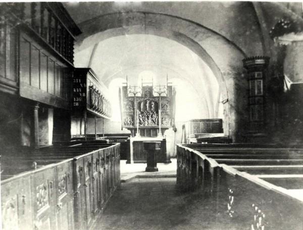 Innenraum Stuhrer Kirche 1910 oder früher