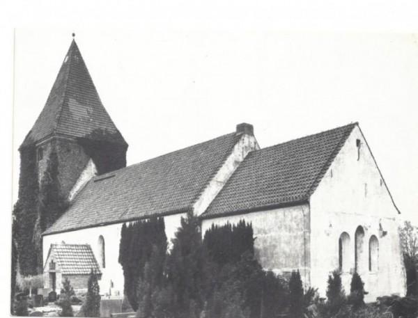 """Alte Postkarte der Aktion """"Rettet die Stuhrer Kirche"""" 1975"""