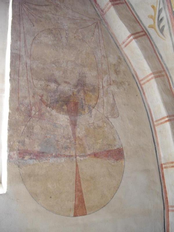 Wandbild der Veronika mit Schweißtuch und dem letzten erhaltenen Weihekreuz