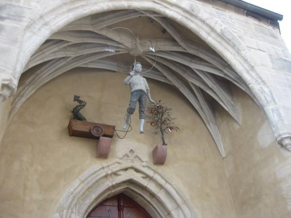 Portal der Georgskirche in Mansfeld
