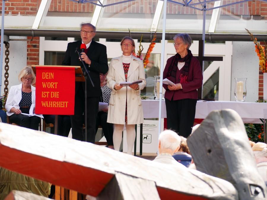 Lektorinnen und Lektoren aus den sieben evangelischen und katholischen Kirchengemeinden beteiligten sich am Gottesdienst.