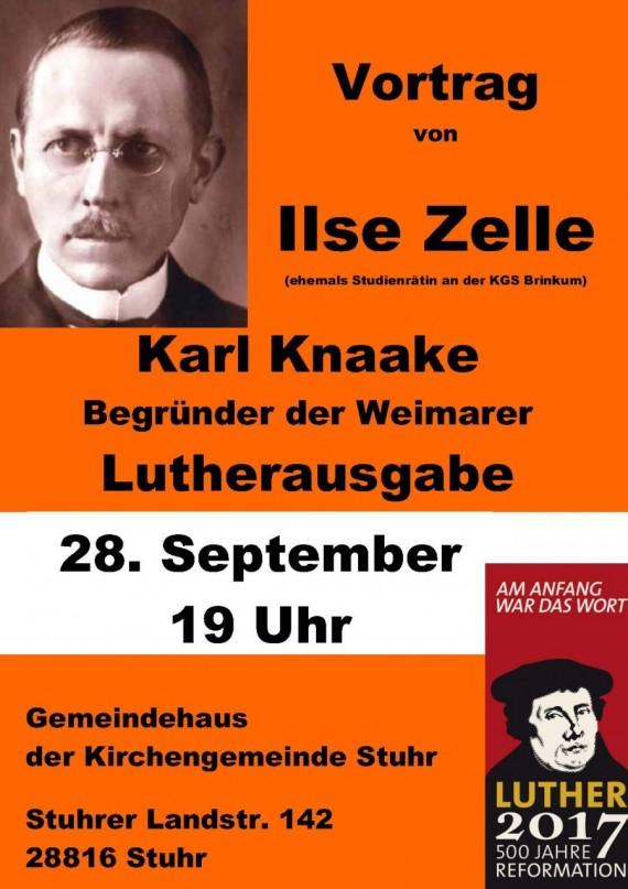 Ilse Zelle über Karl Knaake und sein Jahrhundertwerk
