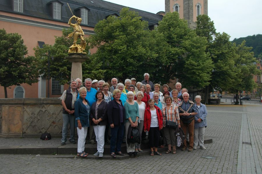 Eine Gruppenbild der Reisegruppe