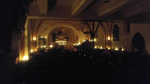 Lucia-Andacht, Lichterkirche und Konzert