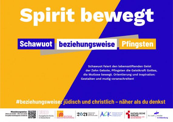 Schawuot und Pfingsten – 1700 Jahre jüdisches Leben in Deutschland